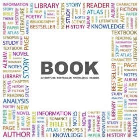 7338274 - book. word collage on white background.   illustration.