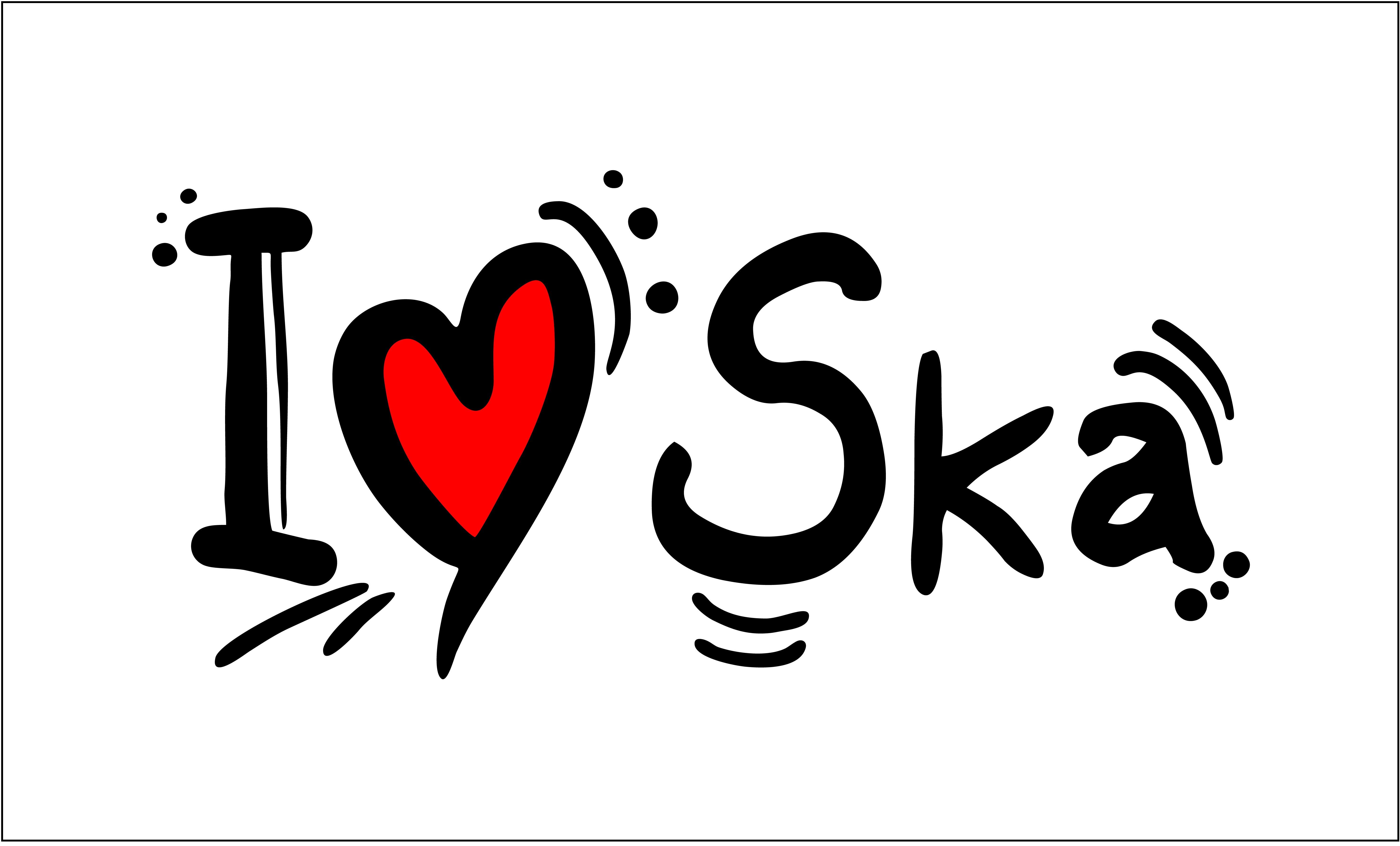 I Heart Ska Border