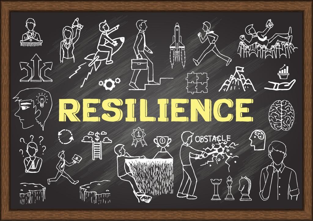 Image of chalkboard illustrations demonstrating resilience